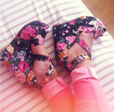 floral wedges perfect for spring :D
