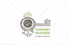 Logo for sale: Nest Home Logo by Agnes design, uploaded on Logo design of nest combined with key shape, represent the safety of home. Nest Logo, Real Estate Logo Design, Home Logo, Artificial Turf, Marketing Ideas, Logos, Postcards, Astroturf, Logo