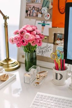 ~ the decorated desk