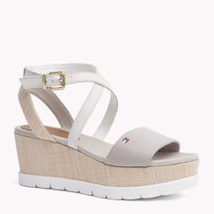 Tommy Hilfiger Mixed Wedge Sandal - silver grey (Grey) - Tommy Hilfiger Shoes - main image