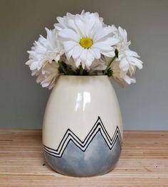Grey Mountains Stoneware Vase