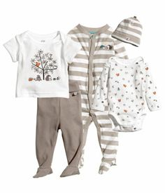 Product Detail | H&M US organic cotton baby set nature
