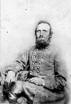 "General Thomas ""Stonewall"" Jackson.  General Jackson's wife, Mary Anna, stated that she felt this photograph was the best likeness to her husband that was ever captured on film."