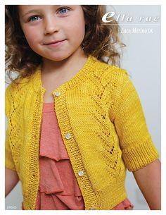 1 ball of Lace Merino DK [Yellow Baby Cardigan Knitting Pattern Free, Baby Boy Knitting Patterns, Knitting For Kids, Knitting Designs, Knit Patterns, Baby Kind, Girls Sweaters, Knit Crochet, Knits