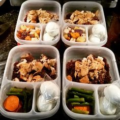 Another successful #mealprep #Monday with @EasyLunchboxes containers