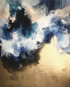 Let's Go Back. Abstract Painting by Sana Jamlaney. Spray Paint, Acrylic and Ink…