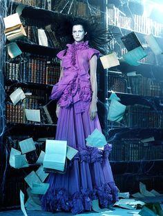 Querelle Jansen & Marta Berzkalna by Miles Aldridge for Vogue Italia April 2006
