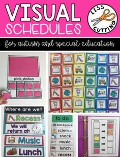 Superstars Which Are Helping Individuals Overseas These Visual Schedules Are Color Coded And Easy To Assemble. Ideal For The Special Education And Autism Classroom. Life Skills Classroom, Autism Classroom, Classroom Setup, Classroom Organization, Classroom Management, Classroom Board, Behavior Management, Future Classroom, Organization Ideas