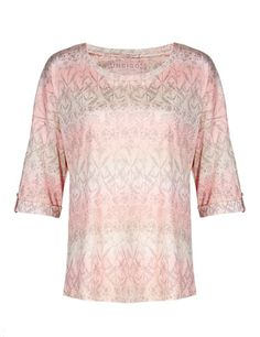 Harvest Print Ombre T-Shirt with Modal @ M&S