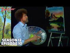 Bob Ross - Mountain at Sunset (Season 12 Episode Bob Ross Painting Videos, Bob Ross Paintings, Oil Paintings, Wavy Bob Hairstyles, Short Bob Haircuts, Peintures Bob Ross, Bob Ross Youtube, Robert Ross, Canvas Art