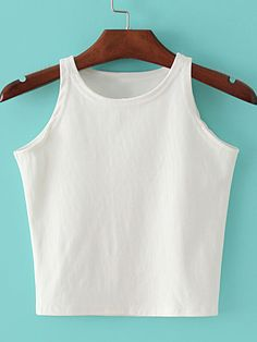 Shop White Round Neck Crop Camis Top online. SheIn offers White Round Neck Crop Camis Top & more to fit your fashionable needs.