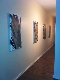 "Abstract Art ""Quattro Flow"" Each piece ""24 x 36"" Acrylic on Canvas $800.00 (4 pce set) Website:  www.facebook.com/fayes.art"