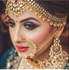 Indian bride makeup by uv ghai (c) kulwant singh mararr indian bridal jewel Indian Wedding Makeup, Best Bridal Makeup, Indian Bridal Outfits, Indian Wedding Hairstyles, Indian Bridal Fashion, Bridal Makeup Looks, Indian Wedding Jewelry, Indian Bridal Wear, Bridal Looks