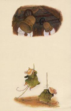 Redwall original art Sound out the bells by christopherdenise Children's Book Illustration, Book Illustrations, Three Blind Mice, Winter's Tale, Art Of Living, Cool Artwork, Colour Images, Illustrators, Original Art