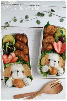 This makes me feel lazy!!!!  Cant believe people make lunches like this! Bento, Monsters: Dog Bento