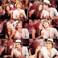 ian somerhalder and nina dobrev ❤ liked on Polyvore