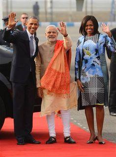 Obama hace dos dias en India. Jai Modi Ji! Jai Hind! God Bless you and Bharat always.