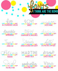 Fab fonts! #fonts #blogdesign #blogtips #socialmedia #blogging