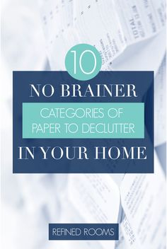 "As always, my first piece of advice for tackling your decluttering project is to start for the low-hanging fruit. Well, it doesn't get any more ""low-hanging"" than junk mail. School Paper Organization, Receipt Organization, Home Organization Hacks, Organizing Tips, Household Organization, Cleaning Hacks, Paper Clutter, Declutter Your Home, Wisdom Quotes"