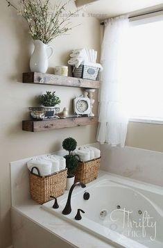 ideas home decored ideas diy bathroom design for 2019 Wood Bathroom, Diy Bathroom Decor, Bathroom Storage, Bathroom Ideas, Master Bathroom, Kitchen Decor, Bathroom Makeovers, Downstairs Bathroom, Bathroom Inspo