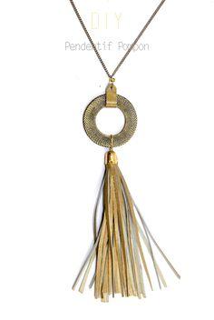 DIY Leather Tassel Necklace Tutorial