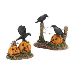 Department 56 Halloween Seasonal Decor Accessories for Village Collections Halloween Ravens 1.77-Inch