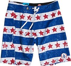 Volcom Merica Boardshort Blue. Get ready for your Summer Celebrations! http://www.swell.com/red-white-blue-clothing/VOLCOM-MERICA-BOARDSHORT-BLUE?cs=BU
