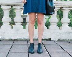 IG blogger @lonestarlookingglass looking amazing in a pair of our booties. Perfect to accompany this shift dress.