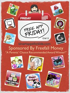 Free App Friday - 32 apps free until 10PM CST 12/6/13  Sponsored by FREEFALL MONEY - COIN MATH FOR KIDS  www.smartappsfork...