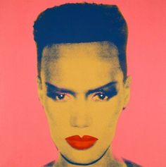 "Grace Jones (born 19 May 1948) is a Jamaican American singer, actress and model.  Jones started out as a model & became a muse to Andy Warhol. She regularly went to the New York City nightclub Studio 54. Jones secured a record deal with Island Records in 1977. In the late 1970s, she adapted the emerging electronic music style and adopted a severe, androgynous look. ""Models are there to look like mannequins, not like real people. Art and illusion are supposed to be fantasy."""