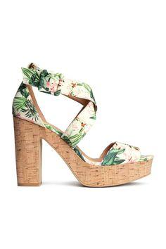 Sandálias de salto compensado | H&M