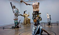 Michael Landys Saints Alive exhibition at the National Gallery, London.