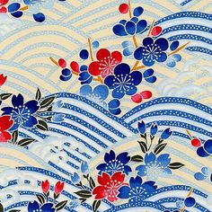 Kimono fabric uploaded by shun-k on We Heart It Japanese Quilt Patterns, Chinese Patterns, Japanese Quilts, Japanese Textiles, Japanese Paper, Japanese Fabric, Vintage Japanese, Plant Illustration, Pattern Illustration