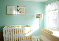 Real Nursery: Bright and Cheerful Aqua and Yellow Sunshine Room | Baby Lifestyles
