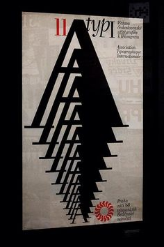 Via @gareth_hague  One A, lots of sizes - AtypI poster, 1968