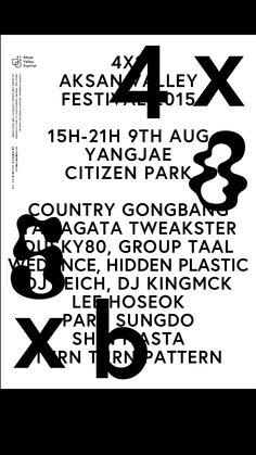 4X8 SXb Aksan Valley Music Festival Identity / Poster