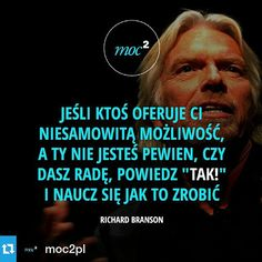 Real Quotes, Life Quotes, Motto, Genius Quotes, Richard Branson, Positive Mind, New Things To Learn, Life Motivation, Poetry Quotes
