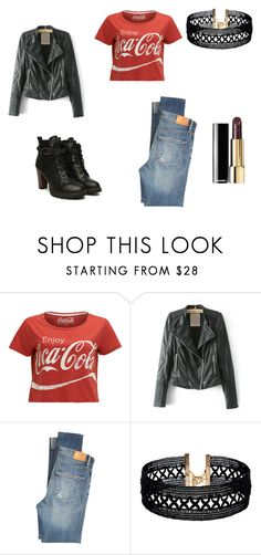 """""""Going Hard Rock Cafe"""" by rosaregaler ❤ liked on Polyvore featuring Citizens of Humanity and Vanessa Mooney"""