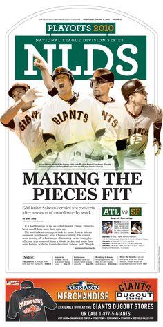 Giants World Series Run, San Francisco Chronicle on Behance