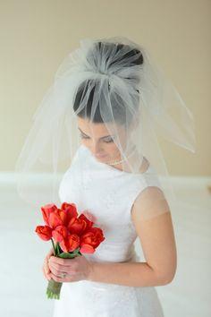 2-tier shoulder length veil bridal veil Available 19 by SEveils