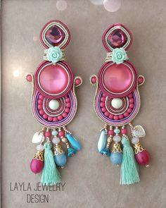 """""""Mi piace"""": 3, commenti: 1 - Layla Jewelry (@layla_jewelry_) su Instagram: """"#earrings #earingshandmade #pink#orecchini #orecchinifattiamano #cercei #oorbellen #örhängen…"""""""