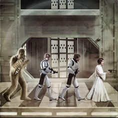 The Death Star's 'Abby Road' /by ?? #StarWars #art