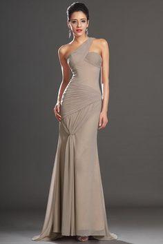 Mermaid Sweep Train Mid Back Glamorous & Dramatic Side-Draped Evening Dress