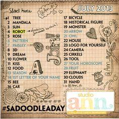 Studio Ann: 1 July: Kick off Doodle-a-Day