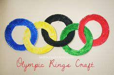 The girls want to have a special party on the opening night of the London 2012 Games. They are going to make these to decorate.