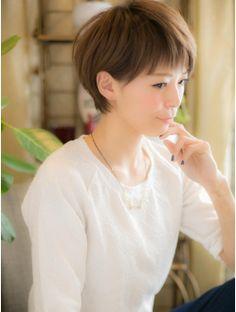 カバーヘア ブリス 上尾店(COVER HAIR bliss)*+COVER HAIR+*…潤いカラー☆…で゛シンプルショート゛b