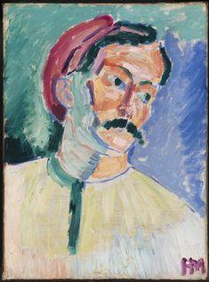 Henri Matisse : André Derain. Óleo s/ tela, 1905