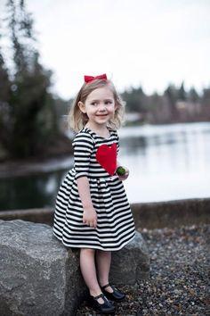 2f29d12da5b Heart Valentine Dress - Toddler Dress - Baby Dress - Girls Dress -  Valentines Day Girl Dress - Red Heart Patch - Valentines Outfit
