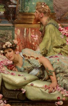 LARGE SIZE PAINTINGS: Lawrence ALMA-TADEMA - The Roses of Heliogabalus (Detail) 1888