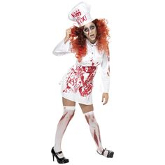 hells kitchen bloody chef costume with dress apron and hat http halloween costume salehalloween